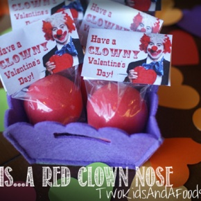More Candy Free Valentines, Clown Noses and a Printable